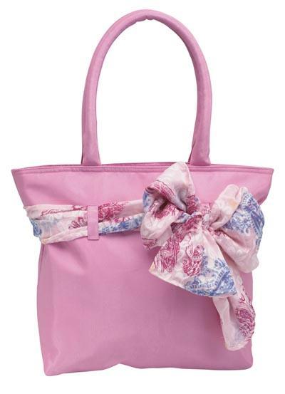 Ladies Scarves - Embassy Ladies Purse/Tote Bag With Detachable Scarf