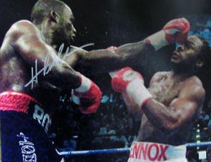 Superstar Greetings Hasim Rahman Signed 16X20 Photo - Punching Lennox Lewis HR-16a