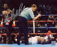 Superstar Greetings Hasim Rahman Signed 8X10 Photo - Knock Out Lennox Lewis HR-8b