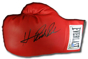 Boxing Gloves - Superstar Greetings Hasim Rahman Signed Everlast Boxing Glove HR-SG