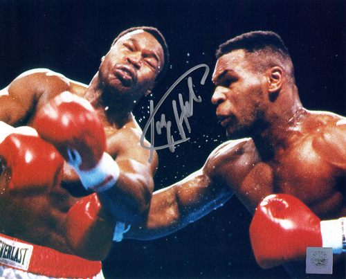 Superstar Greetings Larry Holmes Signed 8X10 Photo - Vs. Mike Tyson LH-8c