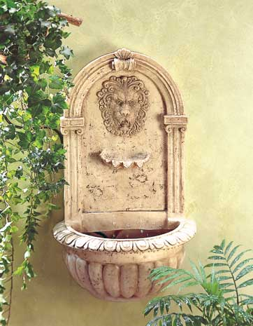Image of SWM 32428 Lion Head Wall Fountain