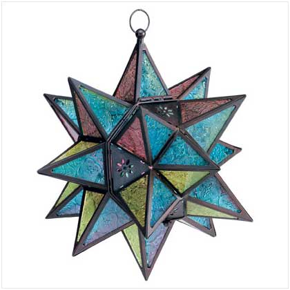 SWM 34690 Moroccan-Style Star Lantern