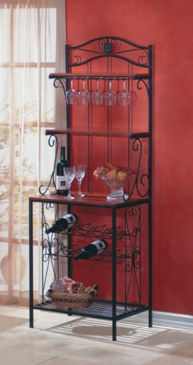 SWM 34775 Baker&'s Style Wine and Glass Rack