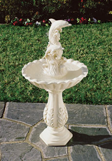 SWM 35384 Leaping Dolphins and Waves Garden Yard Water Fountain