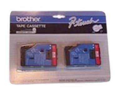 BROTHER RED ON WHITE  1/2inch TAPE  2 PACK TC21