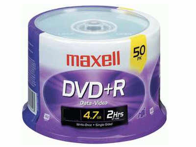 MAXELL 639013 DVD+R Spindle - 50 Pack