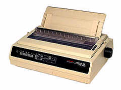 OKIDATA 62410501 Microline 395 Dot Matrix Printer Summary - White