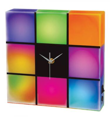 Creative Motion 10835-0 LED Color Changing Panel with Clock