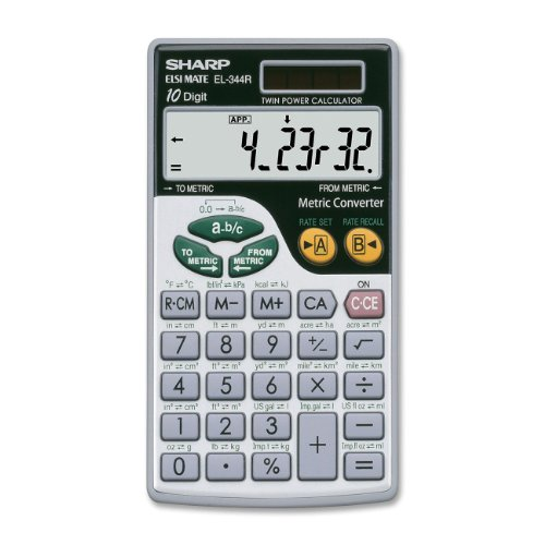 Sharp Electronics Metic Conversion Calculator EL-344RB