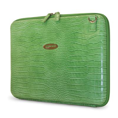 Mobile Edge Faux Croc Portfolio Green MEPFC9