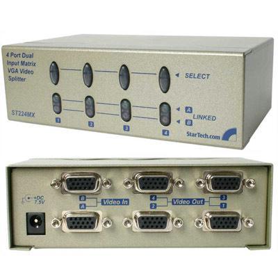 Startech 4 Port Dual Input VGA Splitter ST224MX