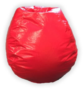 Bean Bag Boys BB-10-RED Red Clear Nylon Bean Bag