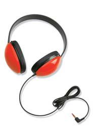 CALIFONE INTERNATIONAL CAF2800RD LISTENING FIRST STEREO HEADPHONES R ED