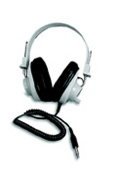 CALIFONE INTERNATIONAL CAF2924AVPV DELUXE MONO HEADPHONE FIXED COILE CORD WITH VOLUME CONTROL
