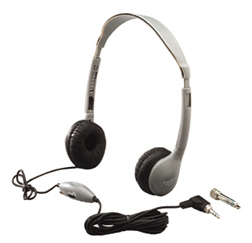 HAMILTON ELECTRONICS- VCOM HECLCB12MS2LV 12-PACK HEADPHONES WITH VOLUME CONT ROL LEATHERETTE EAR CUSHIONS
