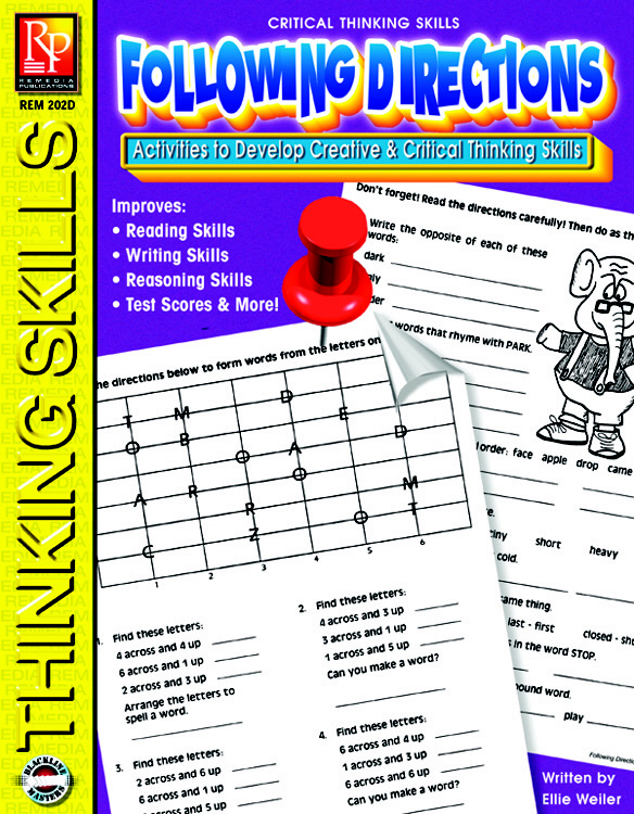 REMEDIA PUBLICATIONS REM202D CRITICAL THINKING SKILLS FOLL OWING DIRECTIONS
