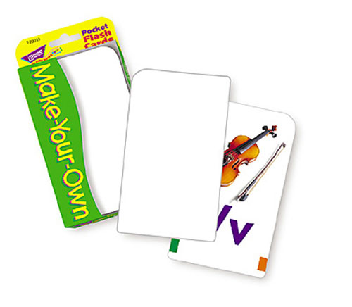 TREND ENTERPRISES INC. T-23019 POCKET FLASH CARDS MAKE YOUR OWN 3 X 5 56 TWO-SIDED CARDS