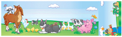 NORTH STAR TEACHER RESOURCE NST5011 SEAT AND CUBBY SIGNS FARM ANIMALS