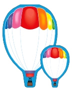 SHAPES ETC. SE-160 NOTEPAD LARGE HOT AIR BALLOON