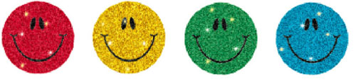 CARSON DELLOSA CD-2143 DAZZLE CHART SEALS SMILEY FACES MUL 440 PACK ACID/LIGNIN FREE MULTICOLOR