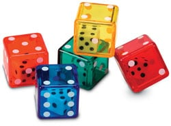LEARNING RESOURCES LER7697 DICE IN DICE