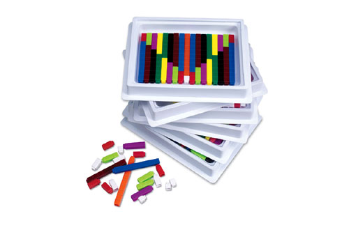 LEARNING RESOURCES LER7481 CONNECTING CUISENAIRE RODS MULTI.