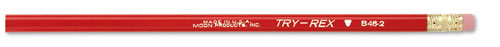 J.R. MOON PENCIL CO. JRMB46 PENCILS TRYREX REGULAR WITH ERASER 12 PACK
