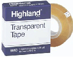 3M COMPANY MMM5910121296 TAPE HIGHLAND TRANSPARENT