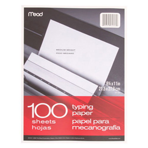 MEAD PRODUCTS MEA39100 PAPER TYPING 8.5 X 11 100 CT