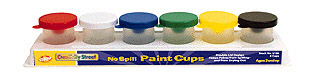 CHENILLE KRAFT COMPANY CK-5106 NO SPILL PAINT CUPS IN A 6-PACK TRA Y