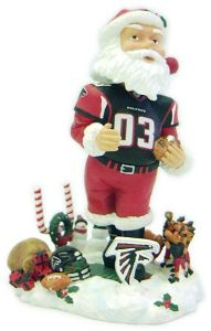 Atlanta Falcons Santa Claus Forever Collectibles Bobblehead