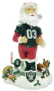 Oakland Raiders Santa Claus Forever Collectibles Bobblehead