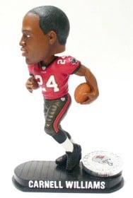 Tampa Bay Buccaneers Carnell Williams Forever Collectibles Black Base Bobblehead