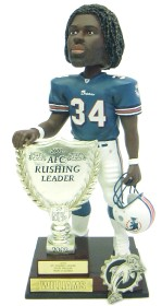 Miami Dolphins Ricky Williams 2003 AFC Rushing Leader Forever Collectibles Bobblehead