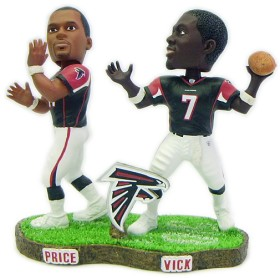 Atlanta Falcons Vick & Price Forever Collectibles Bobble Mates