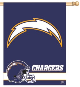 San Diego Chargers Banner 27x37 CASY255