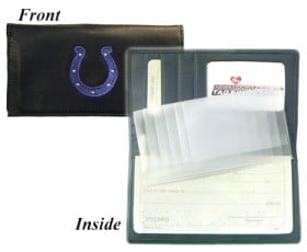 Indianapolis Colts Embroidered Leather Checkbook Cover