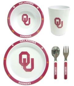 Oklahoma Sooners 5 Piece Children's Dinner Set