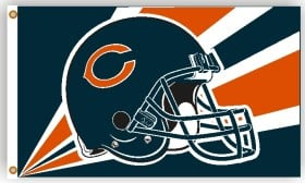 Chicago Bears Flag 3x5 Helmet Design CASY4632