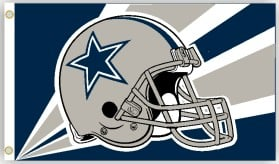 Dallas Cowboys Flag 3x5 Helmet Design CASY4633