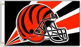 Cincinnati Bengals Flag 3x5 Helmet Design