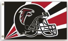 Atlanta Falcons Flag 3x5 Helmet Design CASY4644
