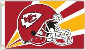 Kansas City Chiefs Flag 3x5 Helmet Design