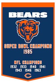 Chicago Bears Banner 24x36 Wool Dynasty