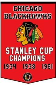 Chicago Blackhawks Banner 24x36 Wool Dynasty