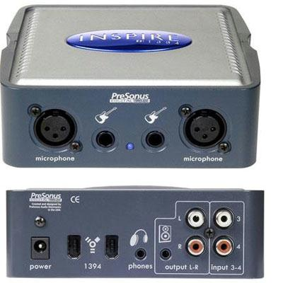 PreSonus Audio 4x4 Firewire Recording Interfa INSPIRE