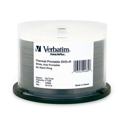 Verbatim 8X DVD+R 4.7GB White Thermal 94889