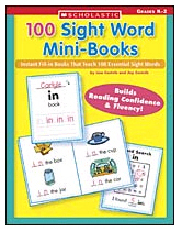 SCHOLASTIC TEACHING RESOURCES SC-0439387809 100 SIGHT WORD MINI-BOOKS