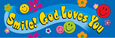 TREND ENTERPRISES INC. T-12701 SMILE GOD LOVES YOU BOOKMARK